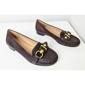 Coach Brown Leather Elkie Loafer